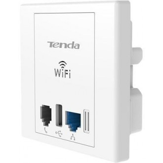 Wireless N300 Wall Plate Access Point with USB port