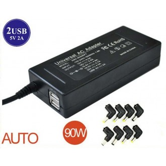 Universal Adapter power charger 15V-20V max 90W 2USB 8 tips