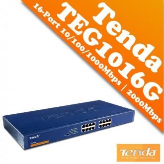 Switch TENDA TEG1016D 16 porte 10/100/1000MBPS 11inch
