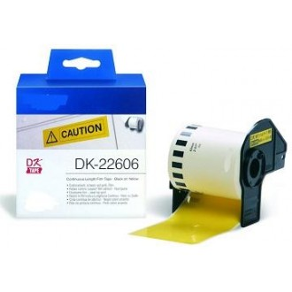 Amarillo 62mmX15.24m para Brother P-Touch QL1000 1050 1060