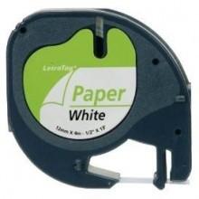 BK-White 12mmX4m for DYMO-Letratag 2000,LT100H,QX50S0721520