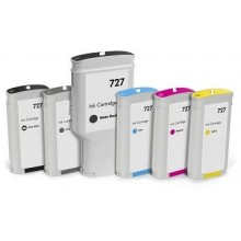 Cyan Compatible Hp Designjet T1500,T2500,T920-130Ml 727