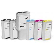 Cyan Compatible Hp Designjet T1500,T2500,T920-130Ml 727