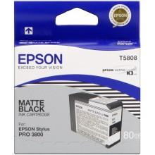 Cartucho original Epson T5808 negro (mate)
